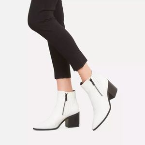 Kenneth Cole Cur Up Double ZIP Leather Booties